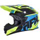 Black/Yellow/Blue FX-21 Pinned Helmet
