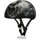 Black Guns Skull Cap Half Helmet
