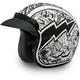 White/Black Graffiti 3/4 Cruiser Helmet