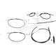 Black Vinyl Standard Handlebar Cable/Brake Line Kit w/ABS For Use With OEM Bars - LA-8151KT-00B