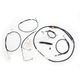 Black Vinyl Standard Handlebar Cable/Brake Line Kit w/ABS For Use With Beach Bars - LA-8151KT-04B