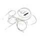Braided Stainless Standard Handlebar Cable/Brake Line Kit w/ABS For Use With 15