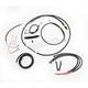 Complete Black Vinyl Handlebar Cable/Brake Line Kit for use w/15-17
