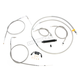 Braided Stainless Standard Handlebar Cable/Brake Line Kit w/ABS For Use With 12