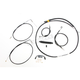 Black Vinyl Standard Handlebar Cable/Brake Line Kit w/ABS For Use With 12