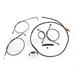 Midnight Series Standard Handlebar Cable/Brake Line Kit w/ABS For Use With 15