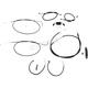 Complete Black Vinyl Handlebar Cable/Brake Line Kit for use w/Mini Ape Hangers w/ABS - LA-8211KT2-08B