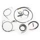 Complete Black Vinyl Handlebar Cable/Brake Line Kit for use w/12-14