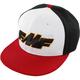 White/Black/Red Shift Hat - FA7196904WHTONE