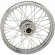 Chrome Front 19x2.5 40-Spoke Laced Wheel (Non-ABS)(Single Disc) - 0203-0633