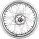 Chrome Rear 16x3 40-Spoke Laced Wheel (Non-ABS) - 0204-0522