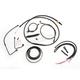 Complete Midnight Series Handlebar Cable/Brake Line Kit for use w/Mini Ape Hanger Bars w/ABS - LA-8151KT2B-08M