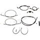 Complete Midnight Series Handlebar Cable/Brake Line Kit for use w/Mini Ape Hanger Bars (Single Disc) w/ABS - LA-8321KT2-08M