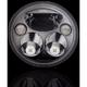 Black 7 in. Round TruBeam Headlamp  - CDTB-7-IF-B