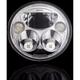 Chrome  7 in. Round TruBeam Headlamp  - CDTB-7-IF-C