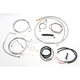 Complete Braided Stainless Handlebar Cable/Brake Line Kit for 15-17