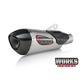 Works Finish Stainless/Stainless/Carbon Fiber Alpha T Street Series Slip-On Muffler - 16381BP520
