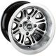 Black Rear 547X 14x8 Wheel - 0230-0905