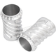 Polished Spiral Fork Boot Covers - 12-005