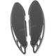 Black Anodized Elite Velocity Rapture Passenger Floorboards - FB-R003-R