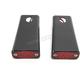 Black Billet Rear Single Circuit Red LED Fender Strut Marker Lights - 909108BR