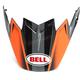 Matte Orange/Charcoal/Carbon Replacement Visor for Moto-9 Flex Hound Helmets - 7093234