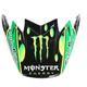 Green/Black/White Replacement Visor for Moto-9 Flex Monster Showtime 18.0 Helmets - 7093233