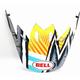Yellow/Blue/White Visor for Moto-9 MIPS Tagger Asymmetric Helmets - 7093243