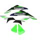 Green/Black/White EVO15 Graphics Kit  - 21-01124