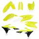 Flo Yellow/Black Full Replacement Plastic Kit  - 2686554310