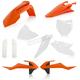 OEM 18 White/Orange/Black Full Replacement Plastic Kit - 2686025909