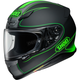 Matte Black/Green RF-1200 Flagger TC-4 Helmet