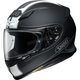 Matte Black/White RF-1200 Flagger TC-5 Helmet