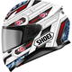 White/Red/Black RF-1200 Trooper TC-10 Helmet