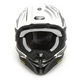 White/Gray/Black VFX-EVO Blazon TC-6 Helmet