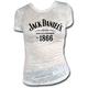 Women's White 1866 Burnout T-Shirt