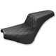 Black Full Coverage Diamond Pattern LS-Step Up Seat  - 818-30-175