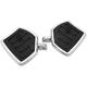 Chrome Contour Passenger Mini Floorboards - 0036-1016-CH