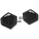 Black Contrast Cut Superlight Passenger Mini Floorboards - 0036-1018-BM