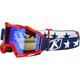 Red Viper Patriot Off-Road Goggles w/Smoke Blue Mirror Lens - 3760-000-000-001