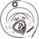 Complete Black Vinyl Handlebar Cable Kit for 12