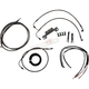 Midnight Stainless Complete Handlebar Cable Kit for 12