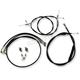 Standard Black Vinyl Handlebar Cable Kit for 12-14