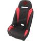 Black/Red Diamond Stitch Seat - EXBURDBDR