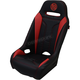 Black/Red Extreme Double T Stitch Seat - EXBURDDTC
