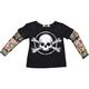 Boys Skull N Bones Tattoo Sleeve Shirt