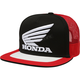 Black/Red Honda Snapback Hat - 21117-017-OS
