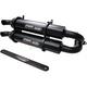 Black Stage 5 Dual Slip-On Mufflers - TR-4152-CB