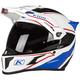White/Blue Krios Karbon Adventure Valiance Helmet