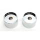 Chrome 1 in. Solid Riser Bushings - LA-7413-71